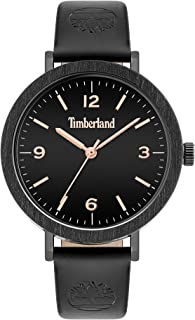 Timberland Nayson Women's Analogue Quartz Watch with Black Dial and Black Leather Strap - TBL.15958MYB-02