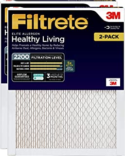 Filtrete 12x24x1, AC Furnace Air Filter, MPR 2200, Healthy Living Elite Allergen, 2-Pack