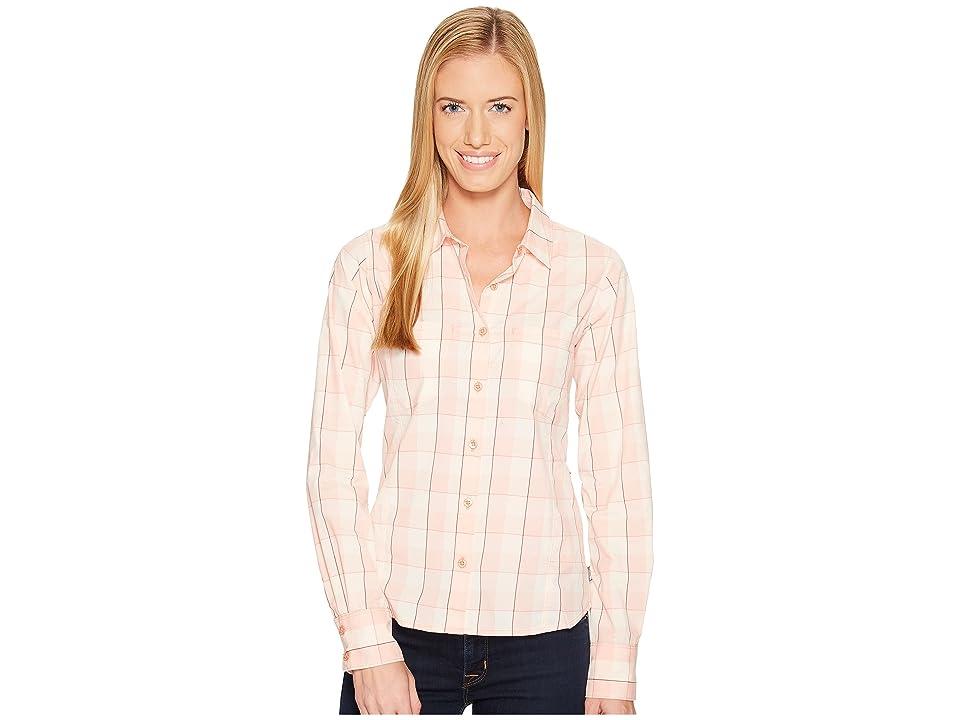 The North Face Long Sleeve Sunblocker Shirt (Burnt Coral Plaid (Prior Season)) Women