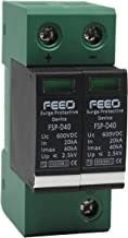 FEEO Plastic DC Solar Surge Protection Device Double Pole, 600V, 20-40 kA (Black and Green)