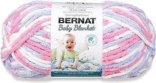 Bernat Baby Blanket Yarn, 10.5 oz, Super Bulky 6 Gauge - Pink/Blue - Single Ball Machine Wash & Dry