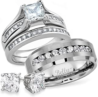 Best wedding ring set him and her Reviews