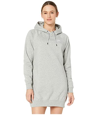 Nike NSW Essential Fleece Dress (Dark Grey Heather/White) Women