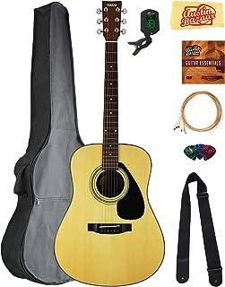 Yamaha F325D Dreadnought Acoustic Guitar Bundle with Gig Bag, Tuner, Strings, Strap, Picks, Austin Bazaar Instructional DV...