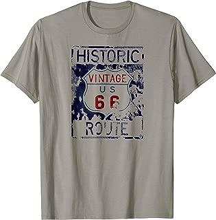 Vintage Historic Route 66 Tshirt For Men, Women, Teens
