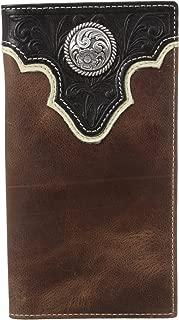Men's Top Concho Overlay Rodeo Black Brown Wallet