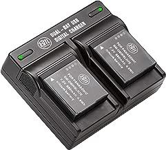 BM Premium 2-Pack of DMW-BLH7 Batteries and Dual Battery Charger for Panasonic Lumix DC-GX850, DMC-LX10, DMC-LX15, DMC-GM1, DMC-GM1K, DMC-GM1KA, DMC-GM1KS, DMC-GM5, DMC-GM5KK Digital Camera