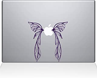"""The Decal Guru Fairy Wings MacBook Decal Vinyl Sticker  - 15"""" Macbook Pro (2016 & newer) - Lavender (1059-MAC-15X-LAV)"""