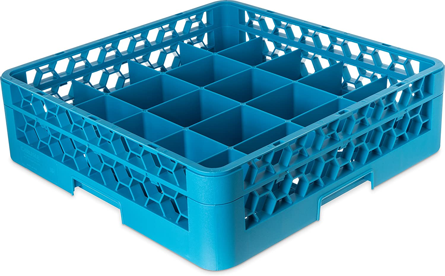 Carlisle RC20-114 OptiClean Tilted 20 Compartment Cup Rack with 1 Extender, bluee (Pack of 4)