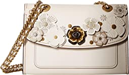 Tea Rose Applique Parker Shoulder Bag