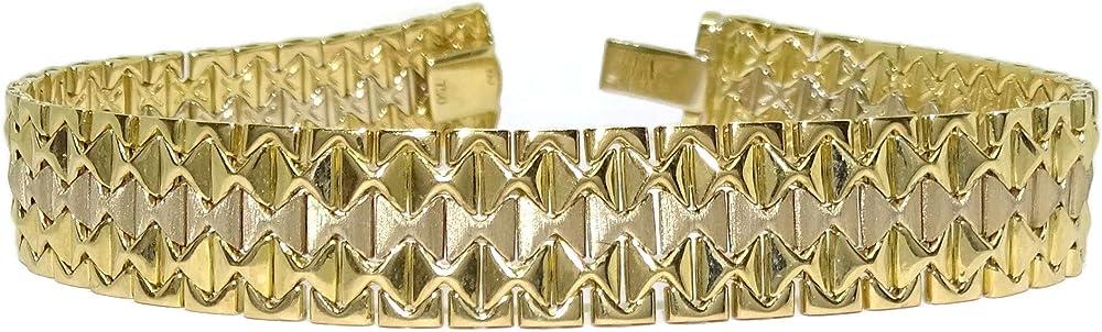 Never say never bracciale in oro giallo e oro bianco 18 carati
