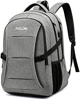 PUSLOM Laptop Backpack,Anti Theft 15.6 inch Travel Laptop Rucksack for Men Women with USB Charging Port and Lock,Water Res...