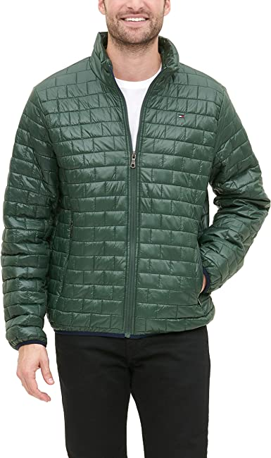 Tommy Hilfiger Men's Sweaterweight Ultra Loft Hooded Packable Puffer Jacket : Color - Black Deep, Size - X-Large (B07GZCJBS1)