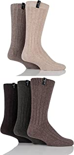 Mens 5 Pair Jeff Banks Greenwich Wool Mix Leisure Socks