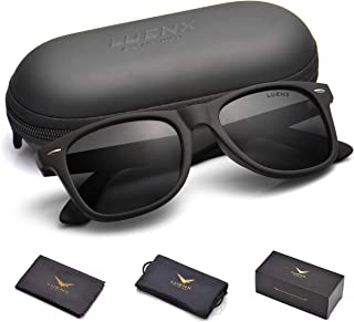 09c9a63d56b8 Mens Sunglasses Polarized Womens: UV 400 Protection,by LUENX with Case