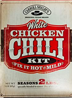 Carrol Shelby's White Chicken Chili Kit 3 Ounce (Pack of 2)