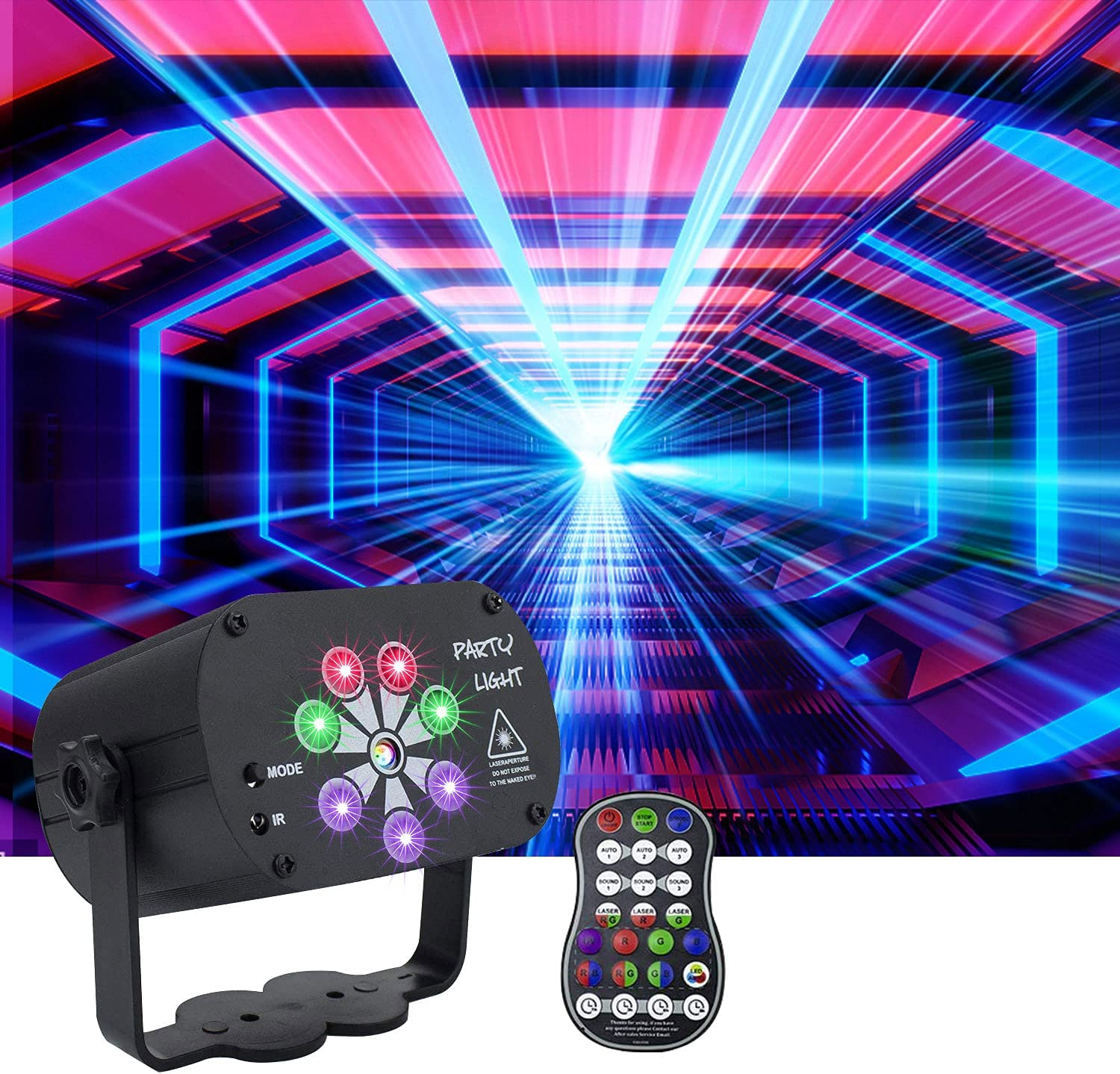 AMKI Party Light Popular DJ Disco 120 Sound Patterns RG Activated New product! New type