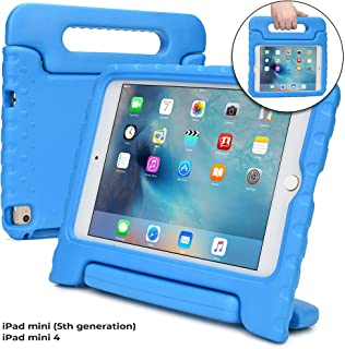 Cooper Dynamo [Estuche Resistente para niños] Funda Protector para iPad Mini 5 4 | Carcasa Tableta, Soporte, manija, Protector Pantalla (BLU)