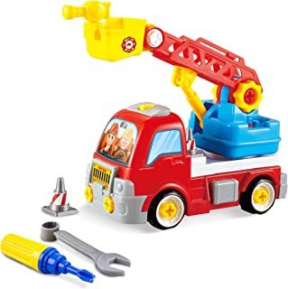 PicassoTiles PTT300 Educational Constructible Fire Truck