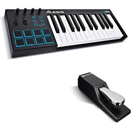 Alesis V25 + M-Audio SP-2 - Teclado controlador USB-MIDI ...