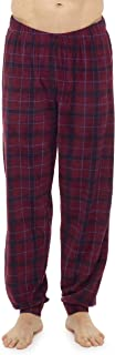 i-Smalls Men`s Printed Check Fleece Louge Pants Pyjama Bottoms