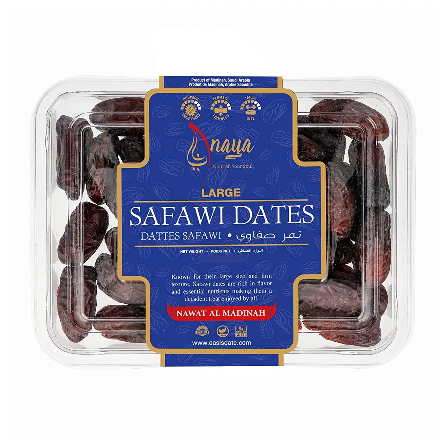 Max 68% OFF Super sale period limited Large Safawi Dates Al-Madinah 400g from