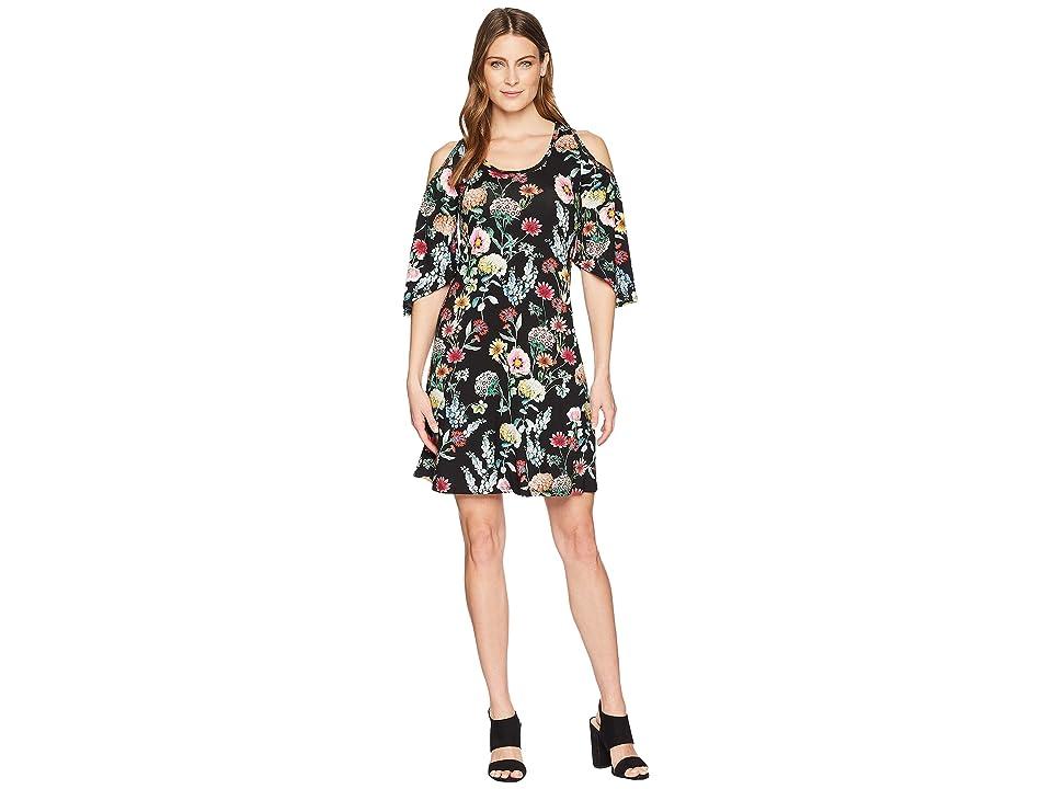 Karen Kane Cold Shoulder Dress (Floral) Women