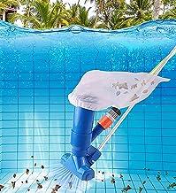Aspirador para Piscinas Elevadas Kit de Limpieza - Mini Jet Underwater Cleaner - Aspirador de Mano para Piscinas SPA Pond Mini Jet Vac con Bolsa de Malla - Fácil de Usar Aspiradores para Piscinas