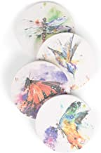 DEMDACO Dean Crouser Nature Assorted Watercolor 4 x 4 Absorbent Ceramic and Cork Coasters Set of 4