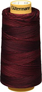 Gutermann Natural Cotton Thread Variegated, 3281-Yard, Berry Berry