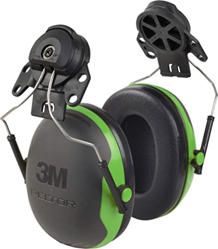 3M - 93045937285 Personal Protective Equipment PELTOR Ear Muffs, Noise Protection, Hard Hat Attachment, NRR 21 dB, Co...