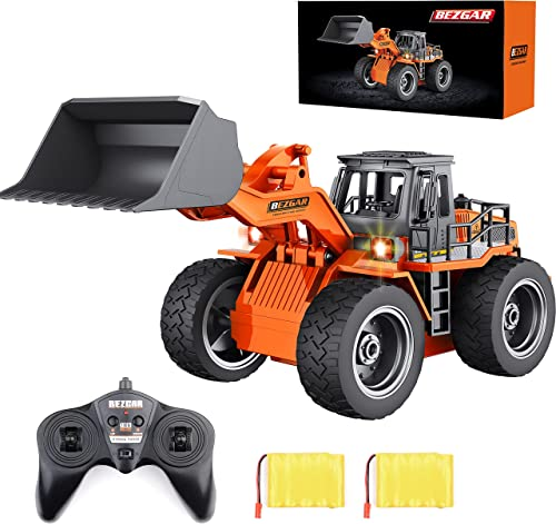 new arrival BEZGAR Remote Control Construction Bulldozer Toy, 6 Channel RC Bulldozer lowest Toys, RC Construction Truck popular Vehicle Toys with 2 Rechargeable Batteries, TK182 sale