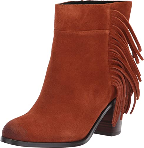 Kenneth Cole New York Woherren Alana Fringe Ankle Stiefelie Stiefel, Rust, 8.5 M US