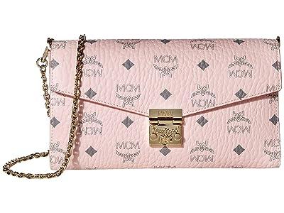 MCM Millie Visetos Small Crossbody Medium (New Soft Pink) Handbags