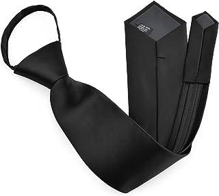 Zipper Ties For Men Zip Neckties Woven Microfiber Satin Silk Finish Neck Tie