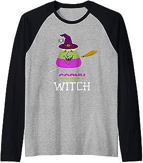 Corn Candy Witch Hat Funny Cartoon Spider Halloween Gifts Raglan Baseball Tee