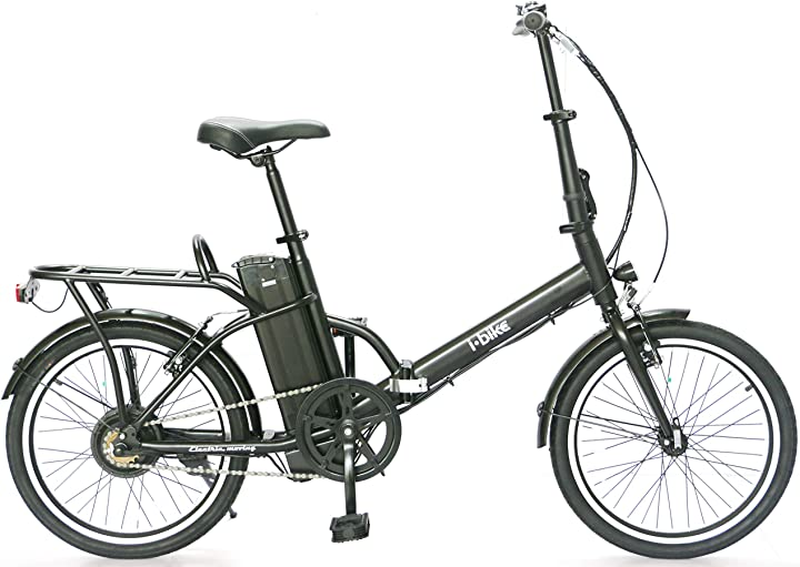 Bicicletta elettrica, nera, taglia unica i-bike fold B08HS2SS2Y