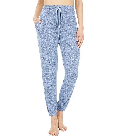 Donna Karan Brushed Sweater Sleepwear Jersey Joggers (Denim Blue) Women