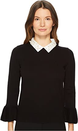 Kate Spade New York - Pearl Collar Sweater