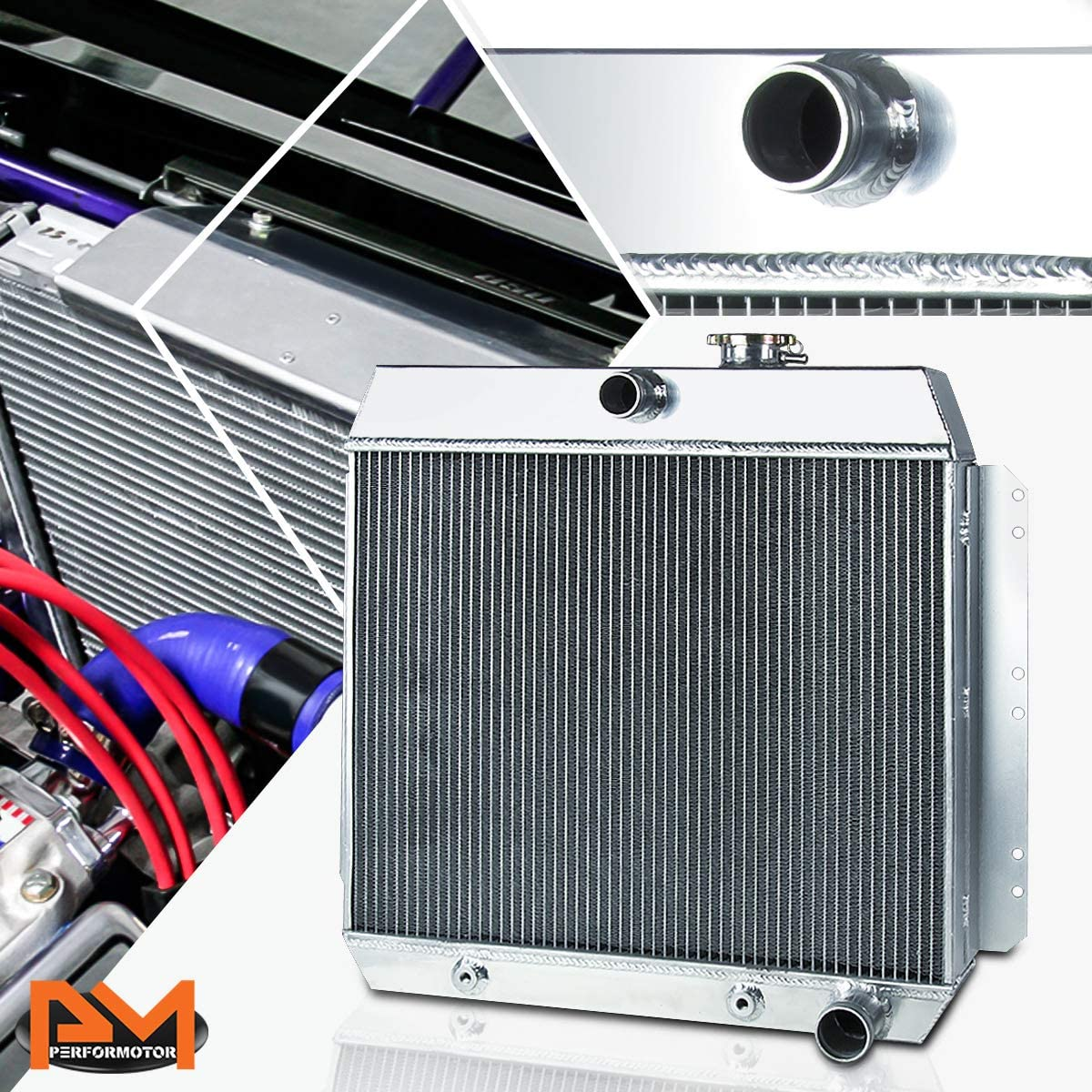 3-Row Aluminum San Antonio Mall Cooling Sale item Radiator Compatible with Air Chevy Fl Bel
