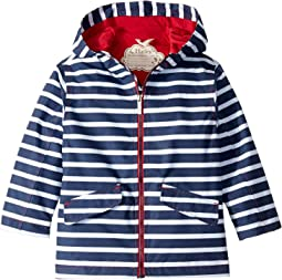 Navy Stripes Microfiber Rain Jacket (Toddler/Little Kids/Big Kids)