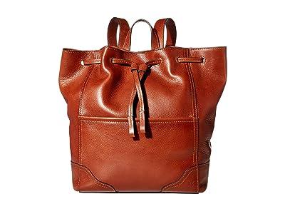 Frye Charlie Backpack (Cognac) Backpack Bags