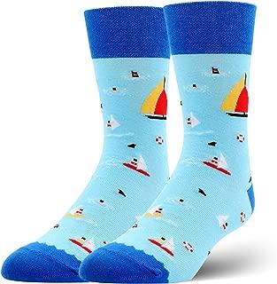 Unisex Novelty Crazy Funny Crew Socks Colorful Cotton Patterned Boot Dress Socks for Men Women