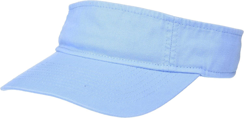 UltraClubs Men's ULTC-8103-Classic Cut Chino Cotton Twill Visor, Light Blue, One Size