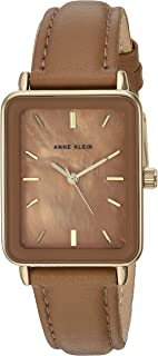 Women's Gold-Tone and Leather Strap Watch