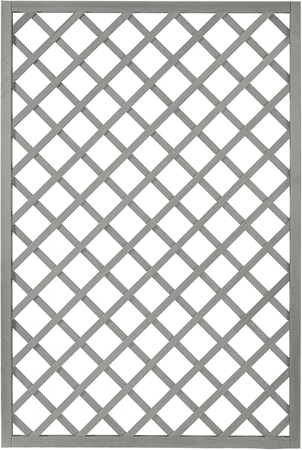Andrewex wooden fence, fencing panel, garden fence 180 x 120, varnished, grey