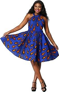 Shenbolen Women African Print Dresses Traditional Clothing
