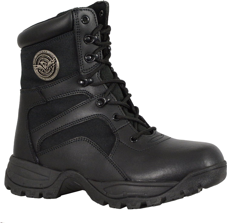 Milwaukee Performance herrar Leather Lace Lace Lace to Toe Taktical Boots (svart, Storlek 7)  bästa försäljningen