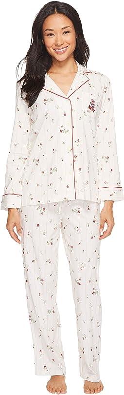 LAUREN Ralph Lauren - Petite Folded Classic Knit Pajama