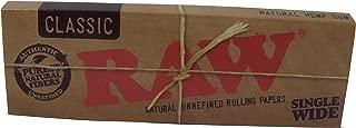 5 booklets RAW Classic Single Wide Cigarette Papers Regular 70mm ロウクラシック シングルワイドペーパー レギュラーサイズ 5冊セット [並行輸入品]
